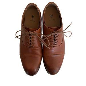 Frye Men's Brown Leather Cap Toe Oxfords Size 10